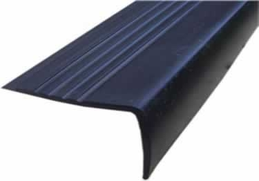 Rubber Stair Nosing By Roppe | Outdoor Rubber Stair Treads | Outside | Metal Tray | Rectangular Cord Treads | Clear Rubber | Heavy Duty