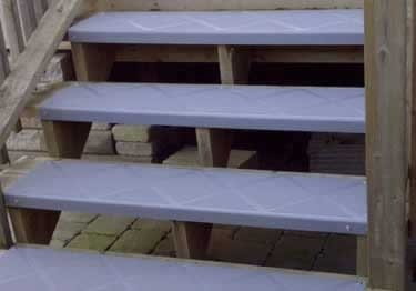 Interior And Exterior Plastic Composite Stair Treads   Outdoor Composite Stair Treads   Stone   Framed   Outside   Ready Made   Blocking