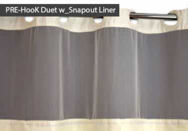 6 pk commercial fabric shower curtains hookless design