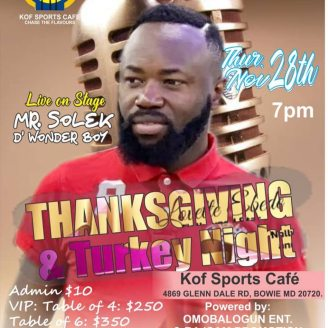 African Music; Thanksgiving and Turkey Night