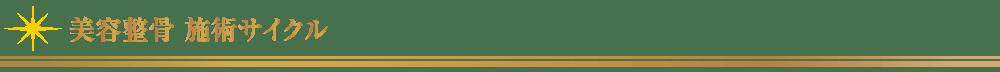 美容整骨_施術サイクル【東京・新宿・小顔矯正・骨盤矯正】WAXPERIENCE