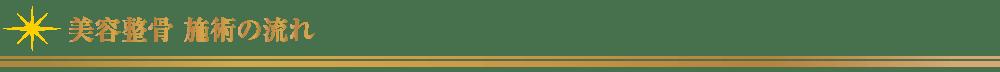 美容整骨_施術の流れ【東京・新宿・小顔矯正・骨盤矯正】WAXPERIENCE