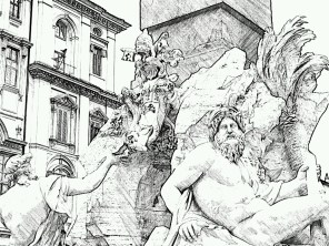 20. Rome in he drawing