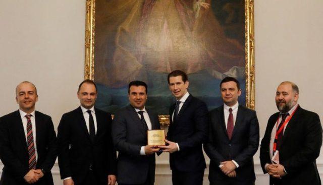 Zaev -Kurc: Marrëveshja e Prespës kontribuon për stabilitet dhe bashkëpunim rajonal