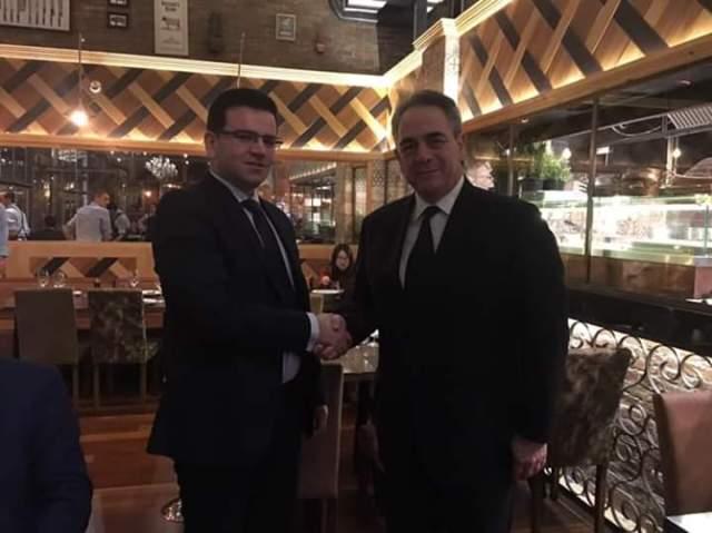 Dauti në Repubikën e Greqisë – takim pune me zëvendës kryetarin e dhomave ekonomike në nivel të Bashkimit Europian, Konstandin Mihalos