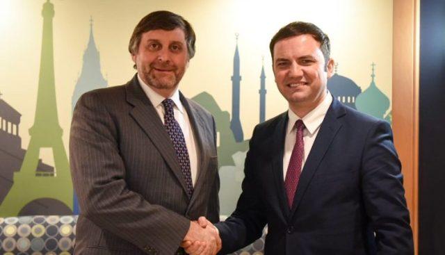 Osmani – Palmer: Maqedonia është partneri i SHBA-ve, BE-së dhe NATO-s në mbrojtje të vlerave perëndimore të Ballkanit