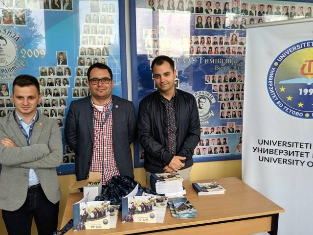 UT e prezantoi ofertën akademike para maturantëve të Velesit