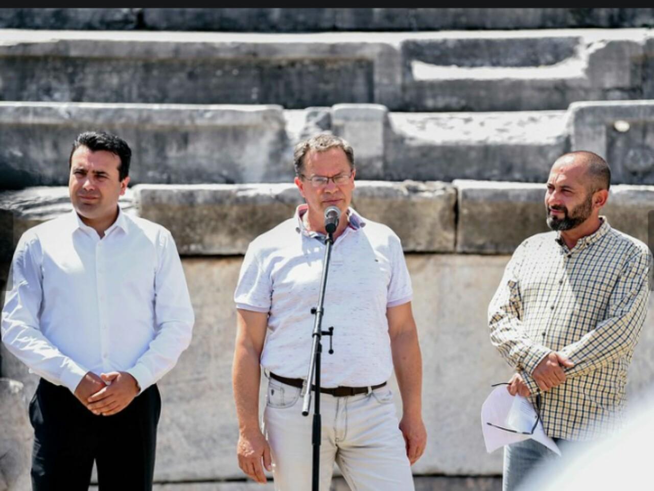Kryeministri Zaev dhe ministri Ismaili për vizitë në IN Lokaliteti Arkeologjik  Stobi