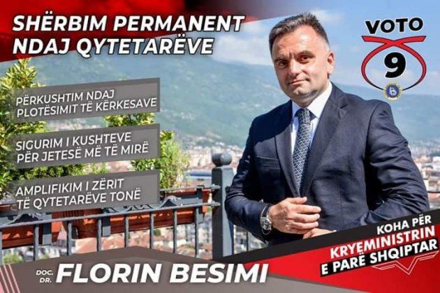 Florin Besimi: Të qëndruarit në shërbim permanent ndaj qytetarëve, për ne është prioritet kryesor!