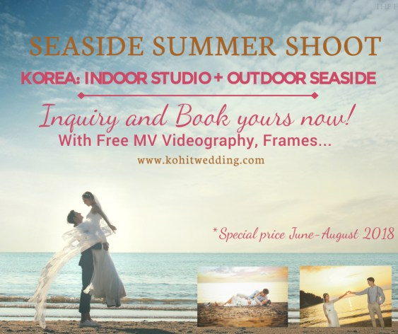Kohit Wedding- Korea Pre Wedding Summer Seaside Shoot