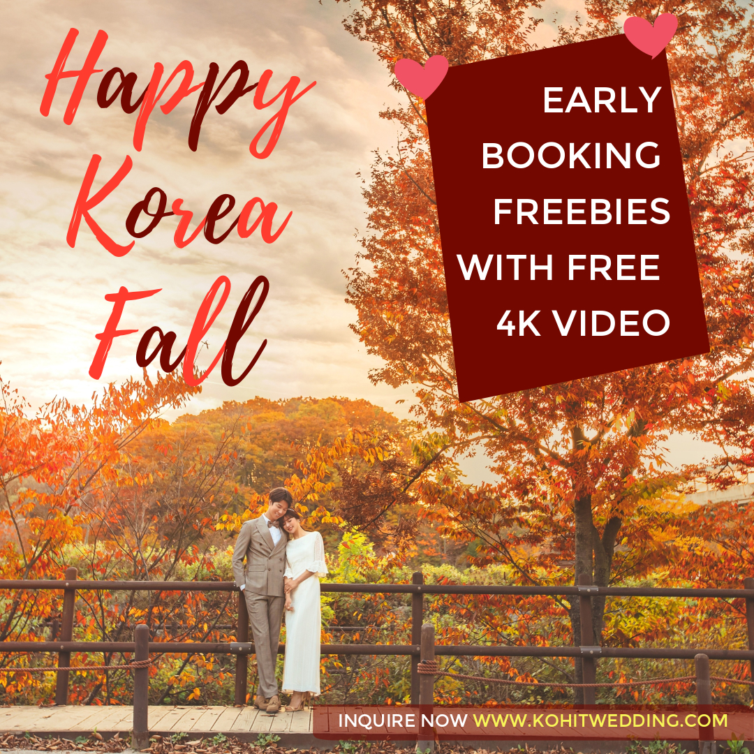 Korea fall prewedding photoshoot event
