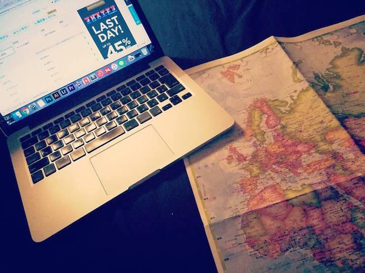 海外旅行 計画 地図