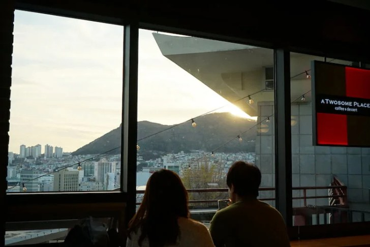 韓国富山のおすすめカフェチェーン,A TWOSOME PLACEプサンタワー店