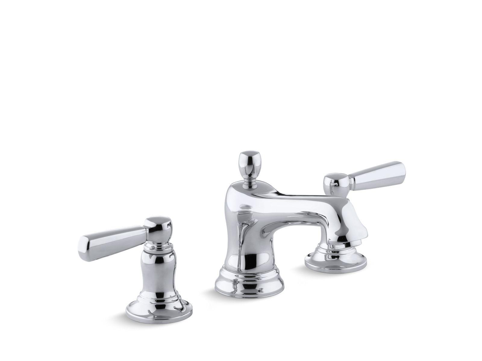 k 10577 4 bancroft widespread sink faucet metal lever handles kohler