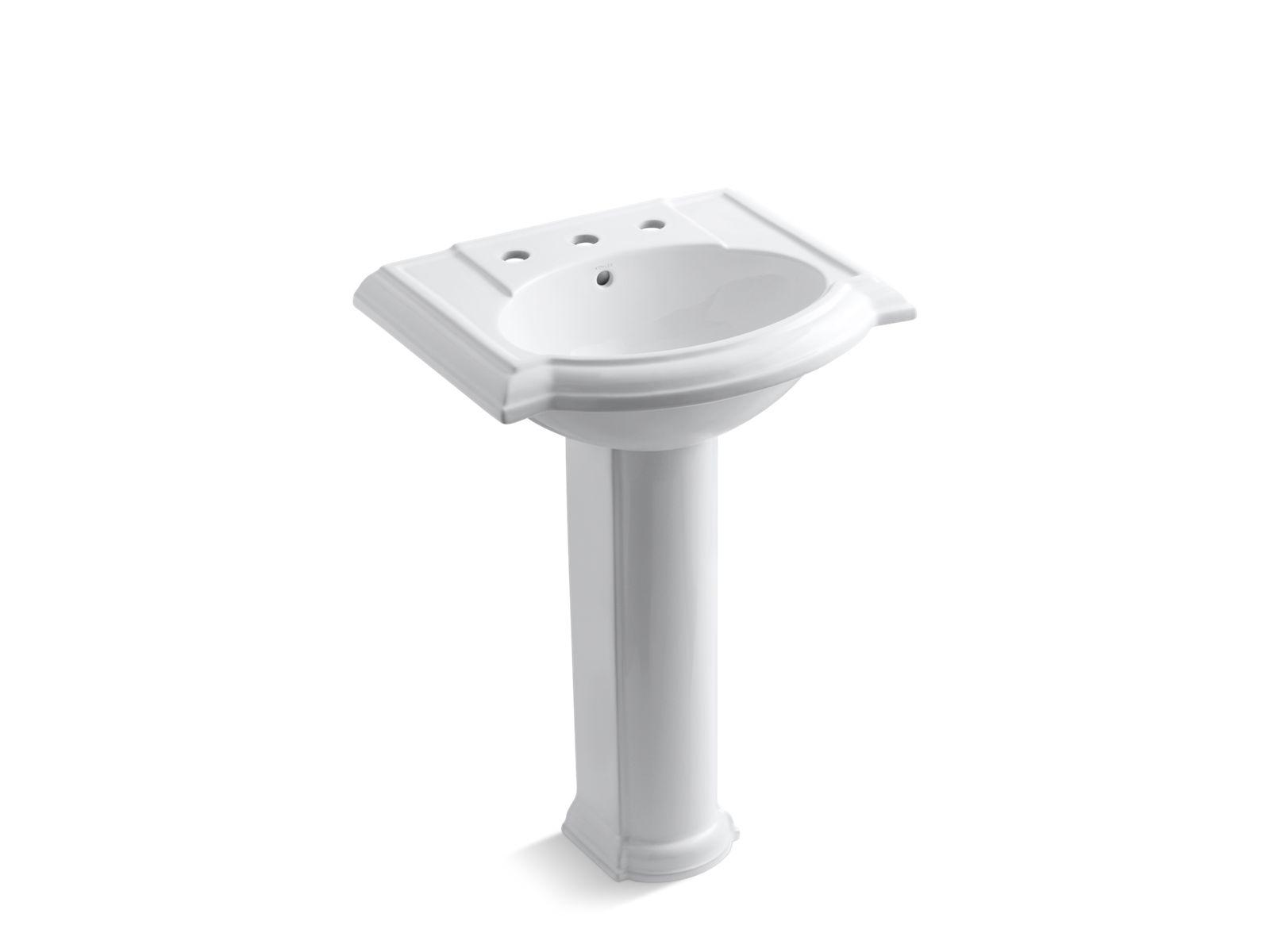 k 2286 8 devonshire pedestal sink with 8 inch centers kohler