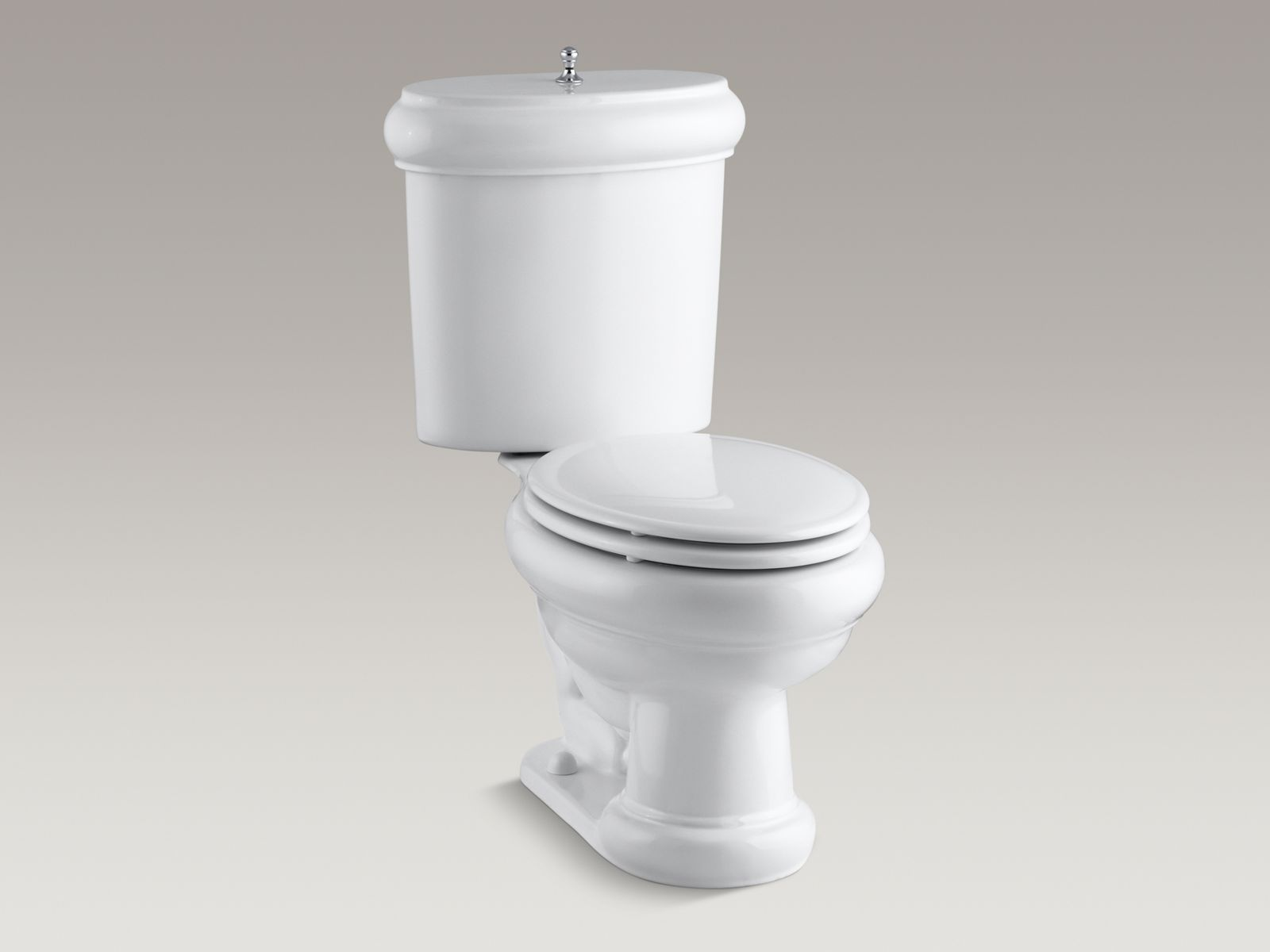 KOHLERK 3555Revival Two Piece Elongated 16 GPF Toilet With Seat KOHLER