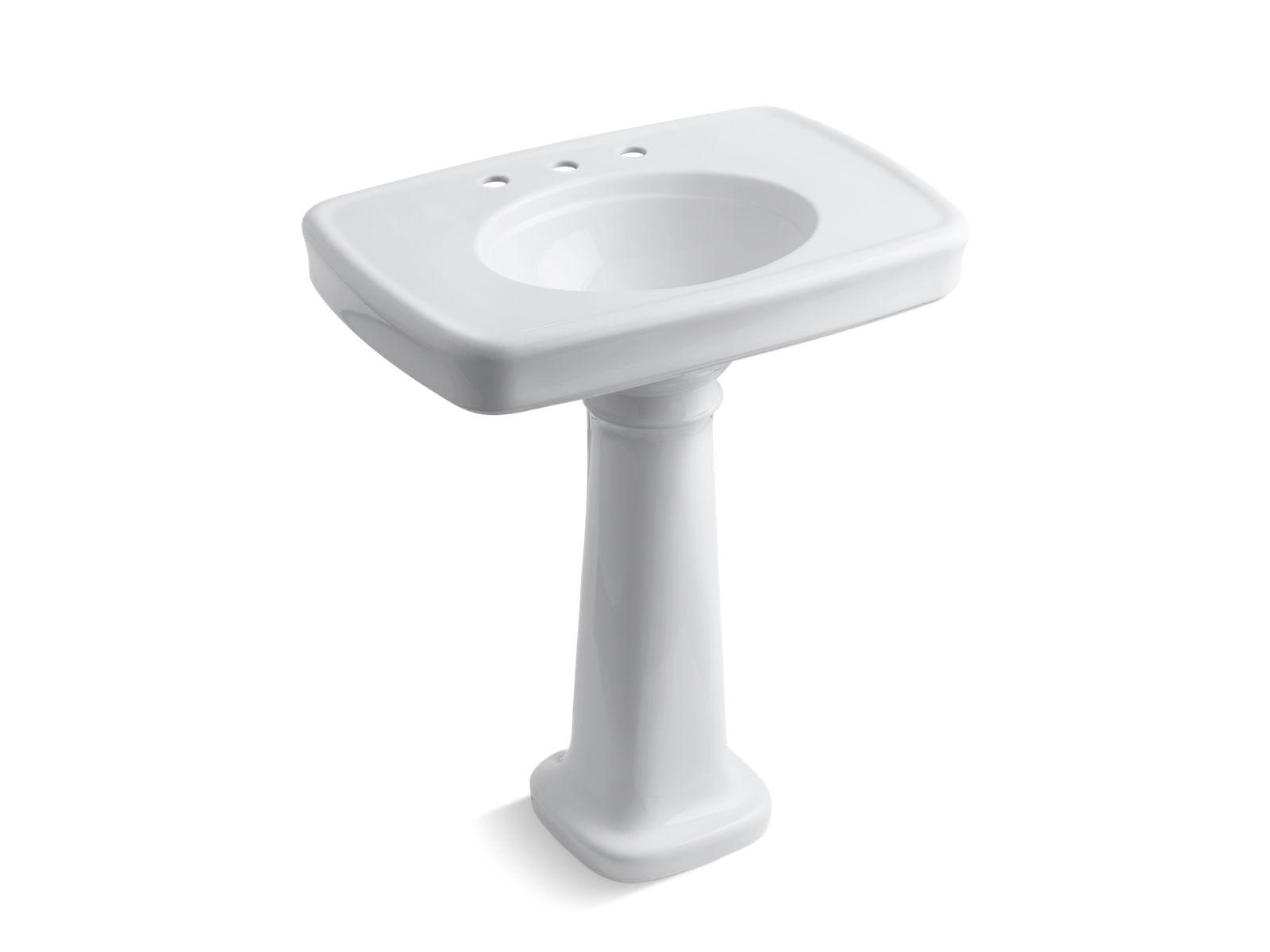 k 2347 8 bancroft pedestal sink with 8 inch centers kohler