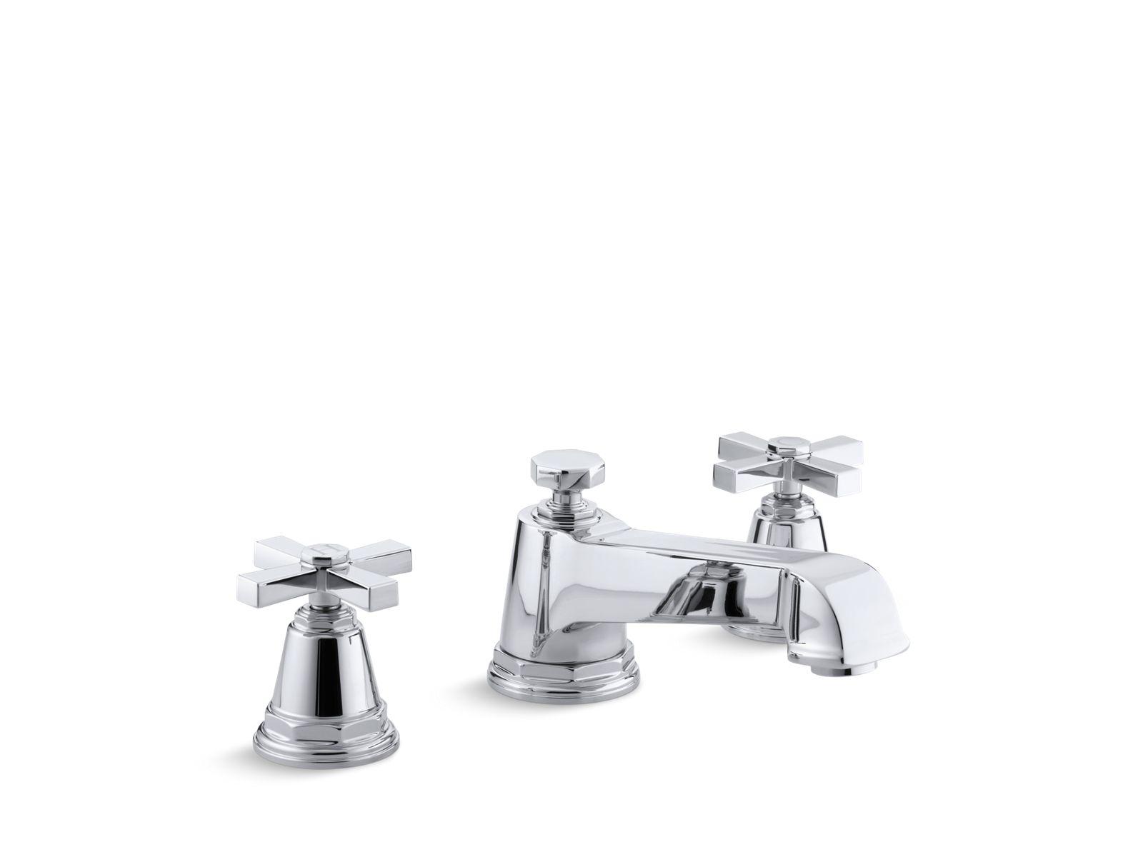 k t13140 3a pinstripe pure deck mount high flow bath faucet trim kohler