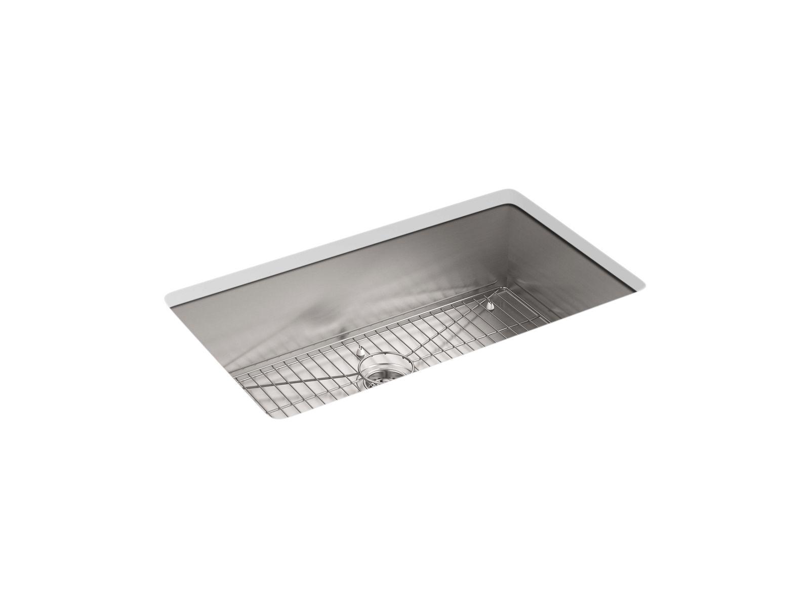vault top mount or undermount sink w single faucet hole k 3821 1 kohler kohler