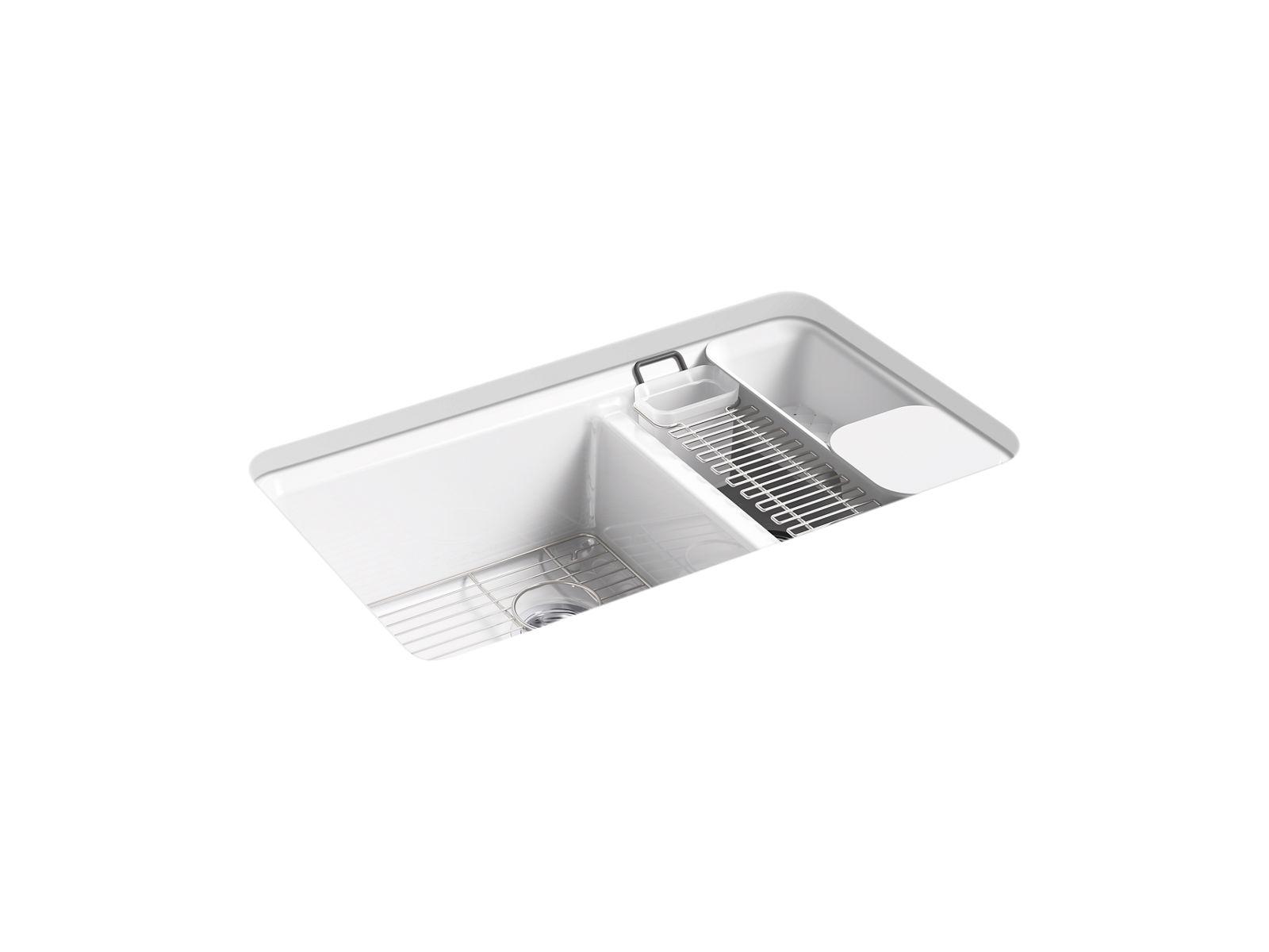 riverby undermount double bowl workstation kitchen sink k 8669 5ua3 kohler kohler canada