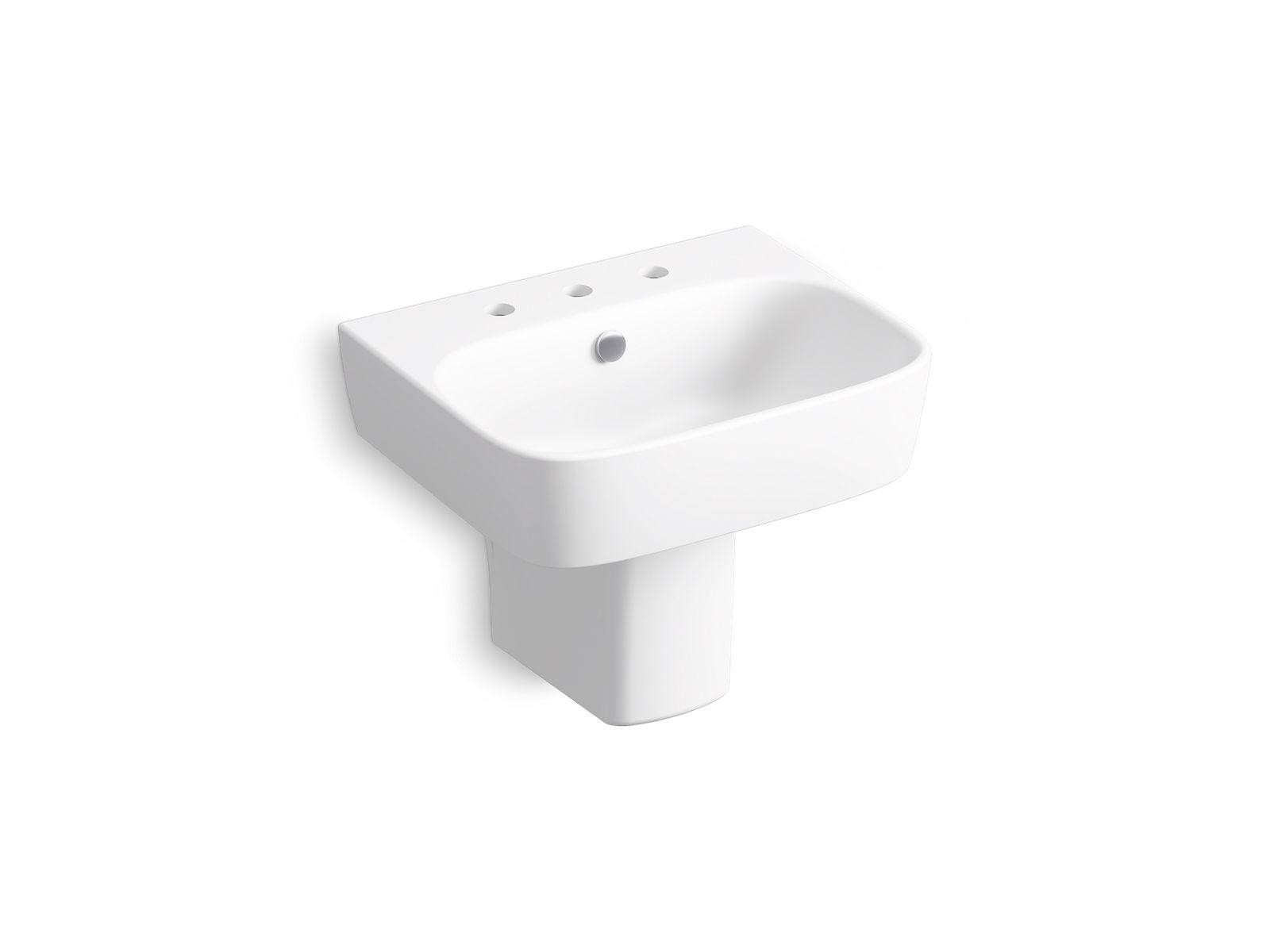 kohler wall mount pedestal sink