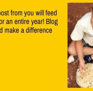 Blog to Feed a Child for an Year