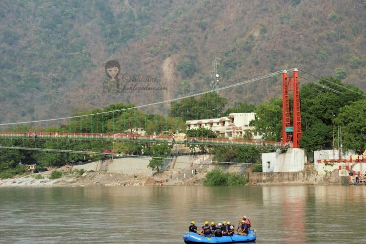 Ram Jhula Rishikesh bridge camping rafting