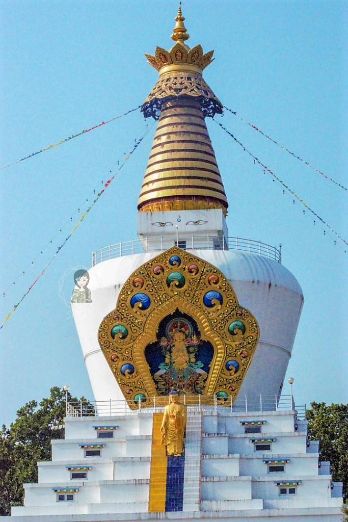 The World Peace Stupa at Mindrolling Monastery
