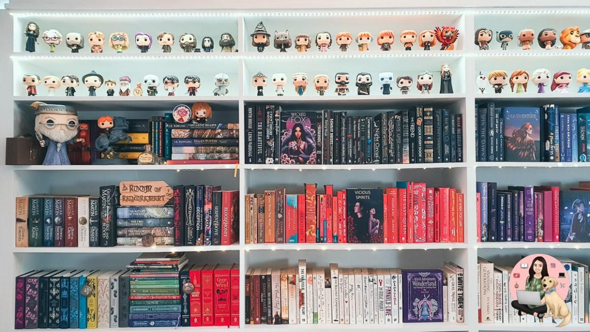 DIY Rainbow Bookshelf