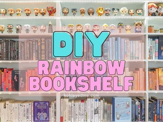 How to DIY Rainbow Bookshelf Step by Step with color order