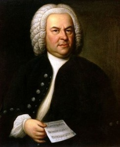 Portrait of a 61-year-old Bach in 1748.