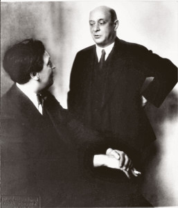 Arnold Schoenberg (right) and Alban Berg (left), ca. 1924.