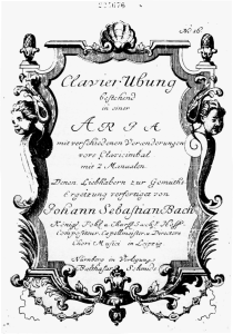 Title page of Bach's legendary Goldberg Variations.