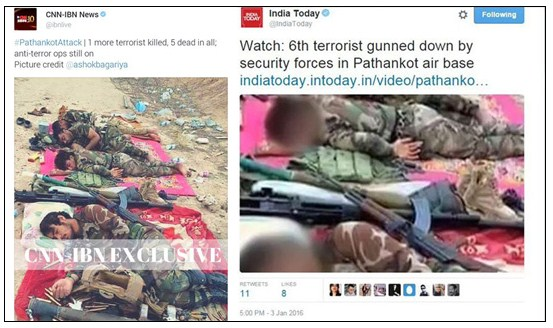 Media' terror coverage syria photos used to show pathankot attack