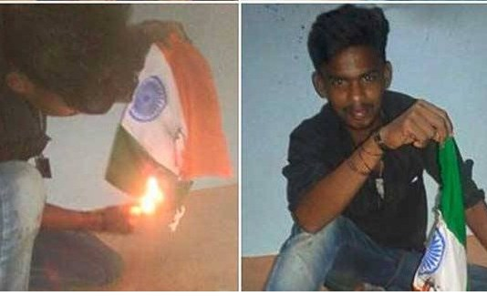 Youth Held For Burning National Flag In Tamil Nadu