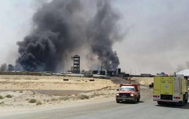 fire in saudi arab plant