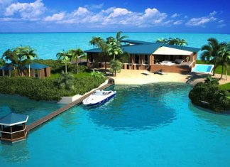 luxury island in blue sea 459914