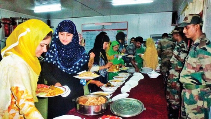 army iftar parties