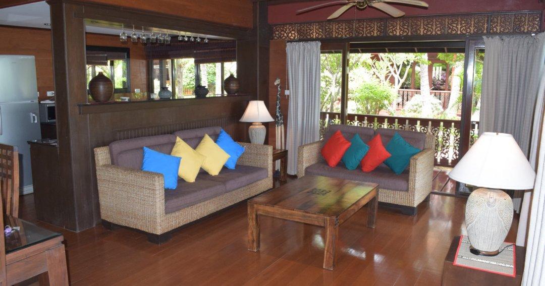 P2 Coconut Paradise Stunning Thai Style Teak Wood Beachfront Villa