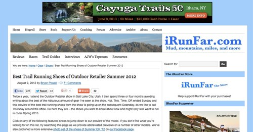 Best Trail Running Shoes of Outdoor Retailer Summer 2012