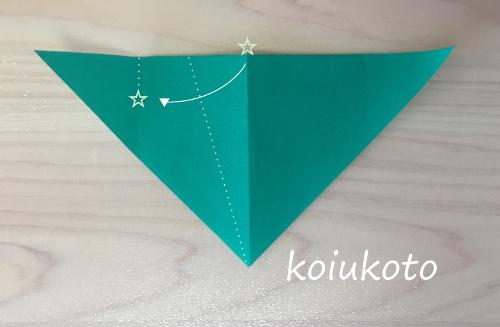 折り紙 笹の葉3
