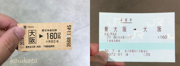 新大阪駅 切符