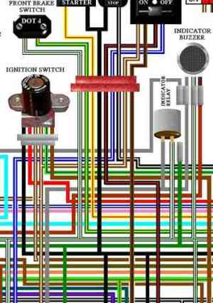 Honda Goldwing Large A3 Colour Wiring Harness Circuit Diagrams