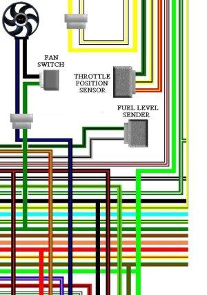 Honda XL650V 200002 UK Spec Colour Electrical Wiring Diagram