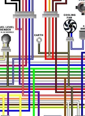 Kawasaki ER500A 1997  99 ER5 Colour Electrical Wiring Diagram