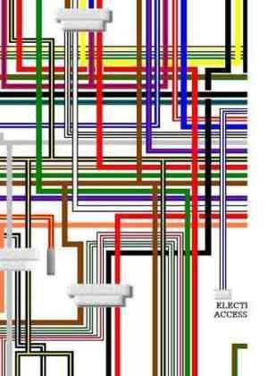 Suzuki GT750 Colour Electrical Wiring Diagram