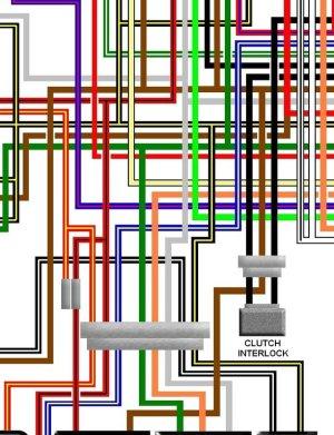 Kawasaki GPZ1100 B2 1982  83 Injection UK Wiring Loom Diagram