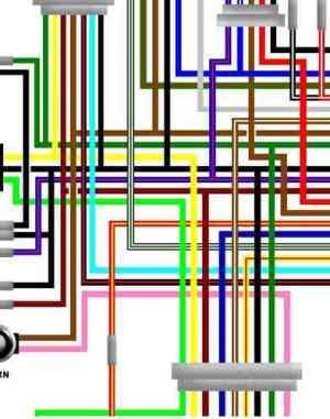 Yamaha RD250LC RD350LC YPVS Colour Wiring Loom Circuit