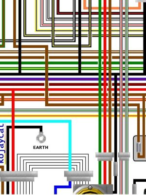 Yamaha RD250LC RD350LC UK Spec Colour Electrical Wiring Diagram