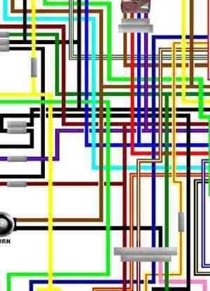 Yamaha XV535 Virago Colour Wiring Loom Diagrams